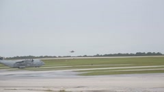 Aircraft Land During Valiant Shield Stock Footage