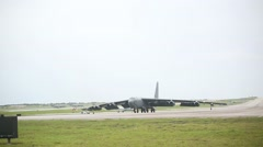 B52 Stratofortress Aircraft Take Off During Valiant Shield Stock Footage