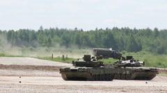 The russian tank T-80U Stock Footage