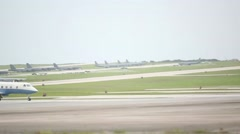 B-52 bomber Aircraft Take Off During Valiant Shield Stock Footage