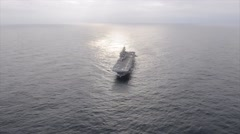USS America Underway in the Atlantic Ocean Stock Footage