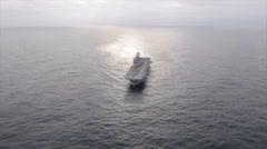 USS America Underway in the Atlantic Ocean Stock Footage