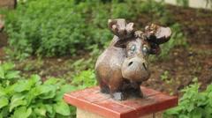 Funny little elk figure - stock footage