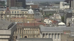 ULTRA HD 4K Aerial view traditional architecture Birmingham England tourism day Stock Footage