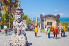 Ancient statue of Bali mythology - stock photo