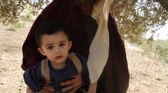 Abraham and Isaac- Biblical Reenactment Stock Footage
