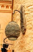 Agadir medina wall lamp Stock Photos