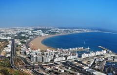 Agadir panorama Stock Photos