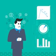 Business worry Stock Illustration