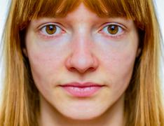 Stock Photo of Symmetric face of teenage girl