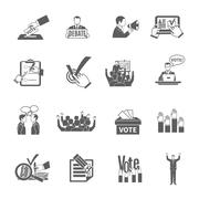 Election Icons Set Stock Illustration