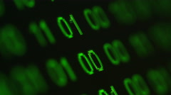 Binary code on computer screen, ECU Stock Footage