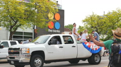 Coors truck passes the Center GLBT community in gay pride parade Denver, CO Stock Footage