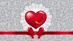 Valentines animated background, red heart Stock Footage