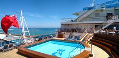 Cruise ship deck view Kuvituskuvat