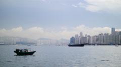 Hong Kong city misty background 4K Stock Footage