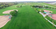 Aerial view of Sterne Park and residential neighborhood of Littleton, Colorado. Stock Footage