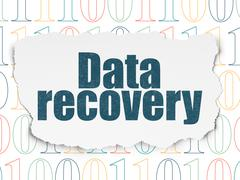 Information concept: Data Recovery on Torn Paper background - stock illustration