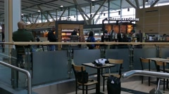 International Airport - Vancouver - 07 - Hall, Cafe, People Stock Footage