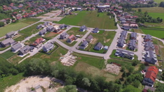 AERIAL: New modern houses in suburbia - stock footage