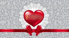Valentines day white background Stock Footage