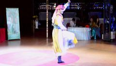 Belly Lady Festival by Daria Danilkina. Dmitry Suminov (Ukraine) eastern dance. Stock Footage