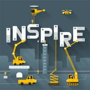 Inspire - stock illustration