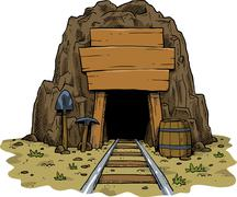 Cartoon mine Stock Illustration