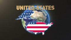 United States with title earth Stock Footage