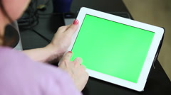Gestures for the tablet and touchpad: hands swiping from left, right, top, down Stock Footage