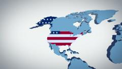 United States zoom on map Stock Footage