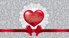Heart, Valentine's Day animated background Stock Footage