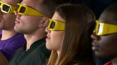 young people watching movie at movie theater, close up - stock footage