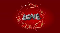 Bold love, Valentine's Day/Wedding animated background Stock Footage