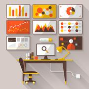 Digiital marketing Analytic - stock illustration