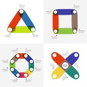 infographic geometry color - stock illustration