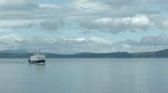 Static shot of a Caledonian MacBrayne Ferry on the Clyde, Scotland Stock Footage
