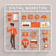 Digital Marketing - stock illustration
