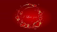 I love You, Valentine's Day/Wedding animated background Stock Footage