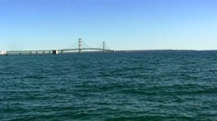 Mackinac Bridge (long shot) Stock Footage