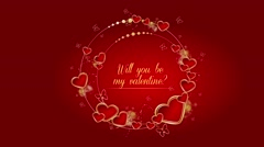 Will you be my valentine my love? Stock Footage
