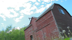 Old Red Barn Stock Footage
