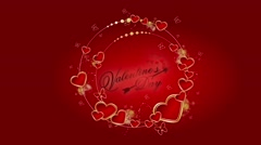 Valentines day animated background Stock Footage