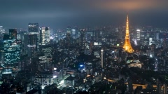 Time-lapse of Tokyo from above Stock Footage