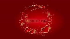 My love animated background Stock Footage