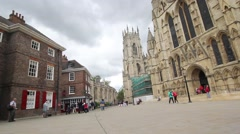 York Minster, York in England, 22 June 2015, HD footage Stock Footage