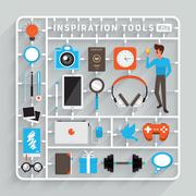 Inspiration Tools - stock illustration
