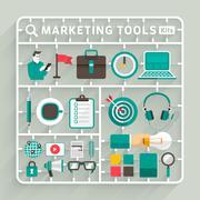 Marketing Tools - stock illustration
