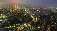 Aerial Time-lapse high above Tokyo Stock Footage