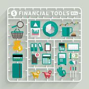 Financial Tools - stock illustration